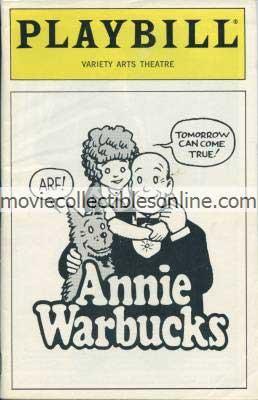 Annie Warbucks Playbill