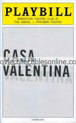 Casa Valentina Playbill