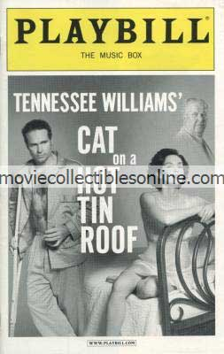 Cat on a Hot Tin Roof Playbill